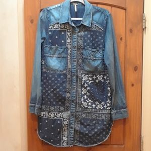 Free People jean jacket/dress